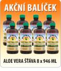 5 + 1 ks ZDARMA ALOE VERA GEL 946 ML + ZDARMA 120 ML AloeVera Gelly 99%